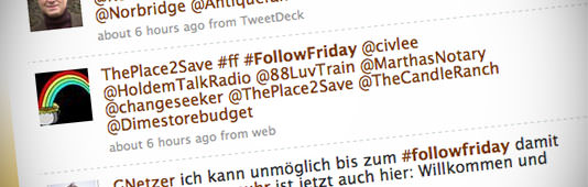 A #FollowFriday tweet