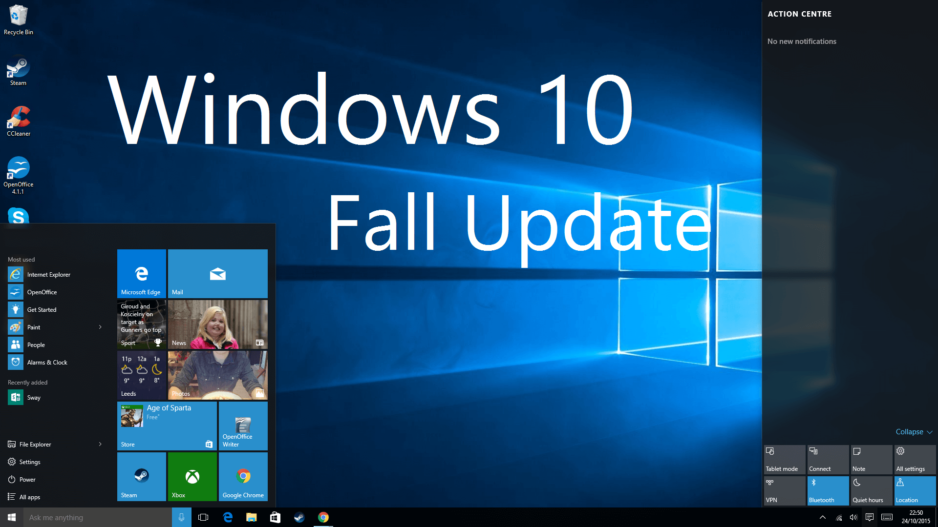 What 39 s in the windows 10 fall update ebuyer blog for Latest microsoft windows