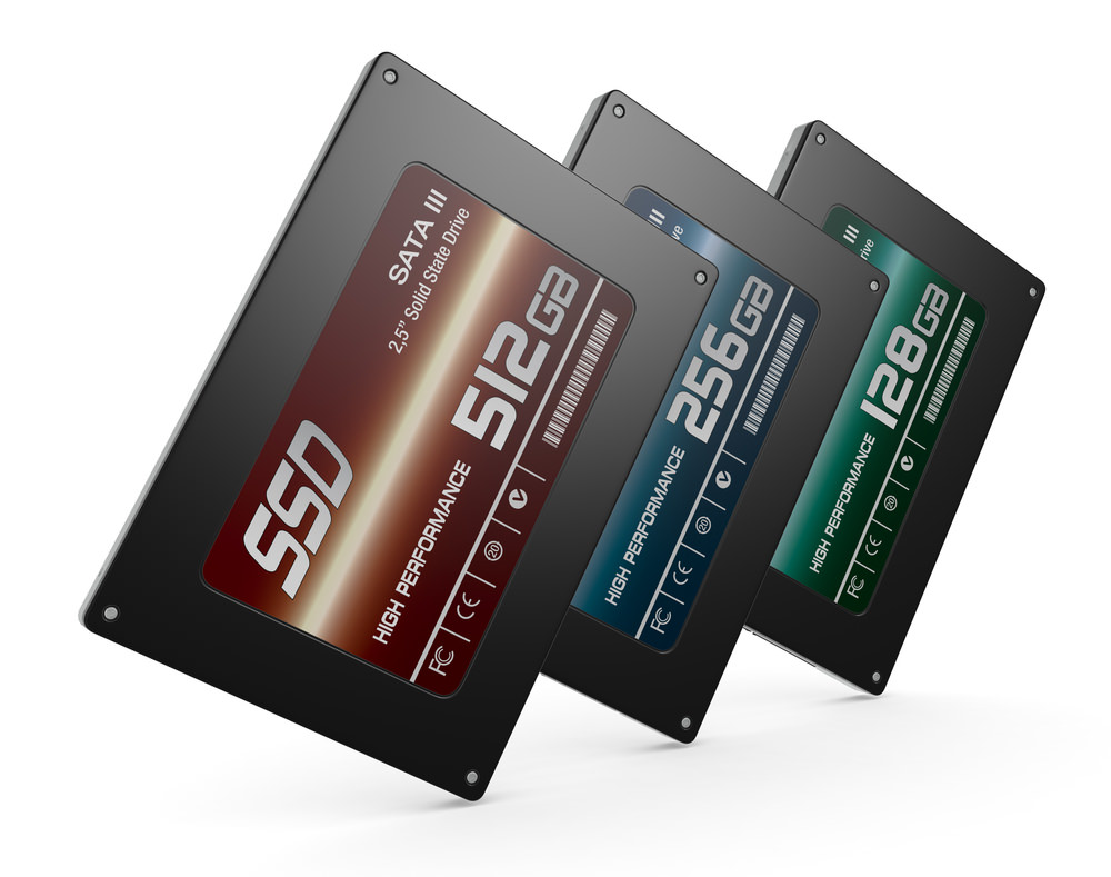 SSD drives different capacities