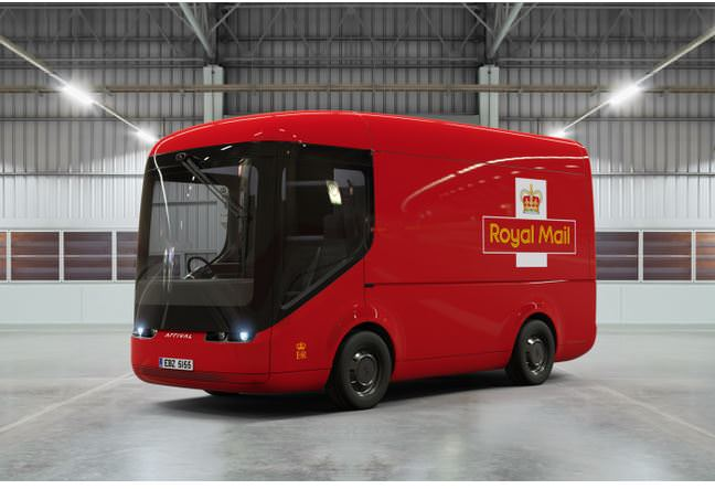 New electric post office truck