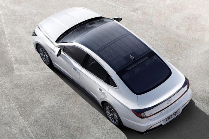 Hyundai solar roof car