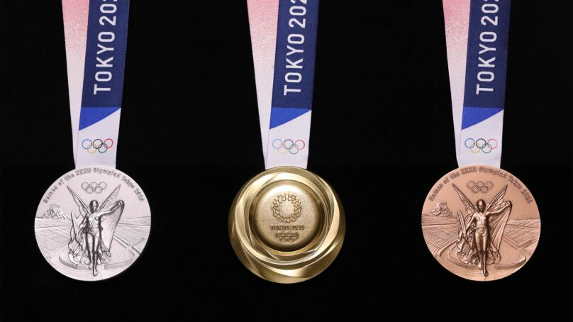 Tokyo unveils 2020 Olympic medals made from recycled gadgets